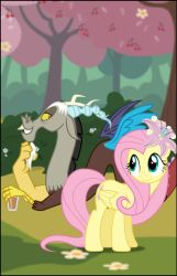 Fluttershy and  Discord by DOLL00132