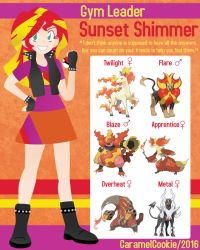My Little Gym Leader - Sunset Shimmer by CaramelCookie