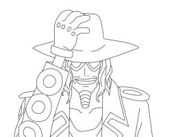 Lineart of Jango One piece by hanautaNovin