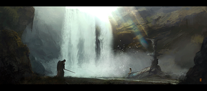 THE_GIRL_AT_THE_CASCADE by donmalo