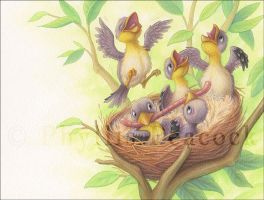 Goldfinch Babies by Red-Clover