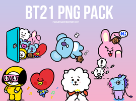 BT21 PNG PACK by mabling
