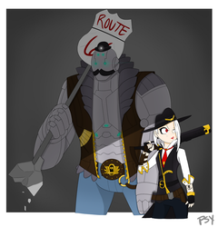 Overwatch: Ashe and Bob by PsySon