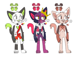 ANTHRO CAT POINT ADOPTS! (Closed) by Snicker-Kitty