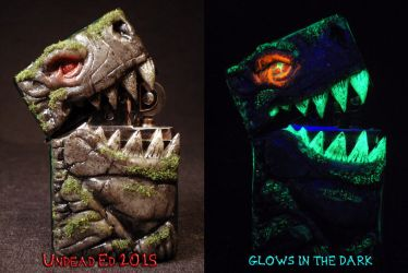 Gargoyle 2.0 Zippo by Undead Ed Glows in the Dark  by Undead-Art