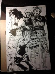 10th Doctor Who David Tennant Print complete by chris-foreman