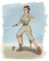 Rey Star Wars manga style by Learningasidraw