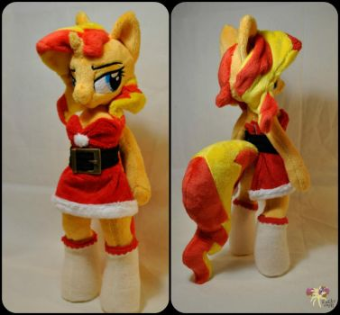 anthro Christmas Sunset Shimmer by KetikaCraft