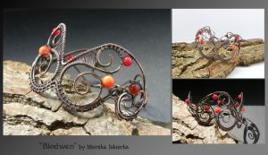 Blodwen- wire wrapped bracelet by mea00