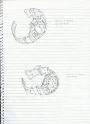 G-Shock Watches Sketches by elrunethe2nd