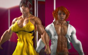 muscle girl by alessandro2012