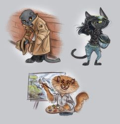 Cats character design by Seanica
