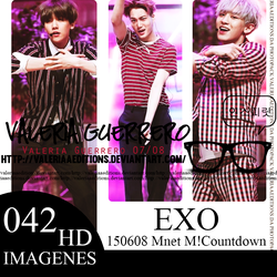150608 Mnet M! Countdown Update With EXO by valeriaaeditions