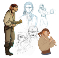 Pirate rpg sketches by Sfaira