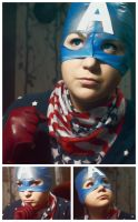 Trash-cosplay Captain America by zillahstardust