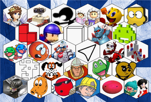 SSB4 Retro Series Roster by The-Koopa-of-Troopa