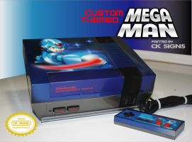 Custom airbrushed painted mega man nes by CKSIGNS