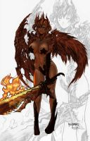 Lady Demon by paulobarrios by carol-colors