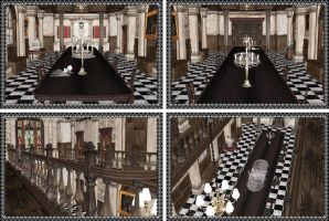 [MMD] Dining Hall Resident Evil Stage by arisumatio