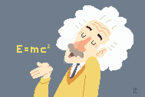 Albert Einstein by LaundryPile