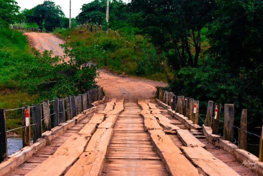 Itaguari River Bridge, Cocos-Bahia, Brazil by alemarques21