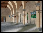 Mendia - Castle Interior, Grand Hall by Ryuyujin