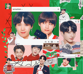 |BTS PACK PNG| BTS X LG MERRY CHRISTMAS PT.2 by sprxng-dream