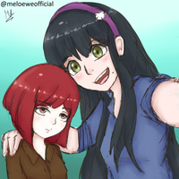 Yumeno and Tenko by Meloewe