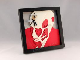 Attack on Titan (SnK) Colossal Titan Shadow Box by elathera