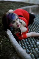 Red Dress Shoot 02 by FateModel