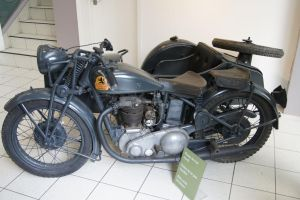 Triumph Motorcycle From The Second World War by MarmaladePrints