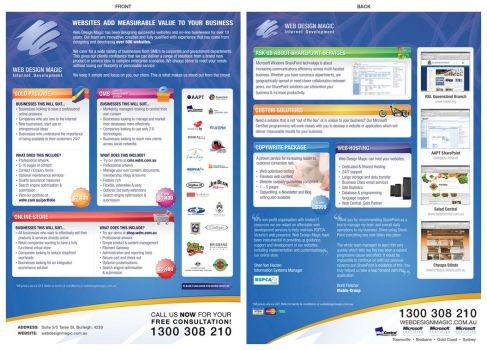 WDM Packages Flyer by Swiftau