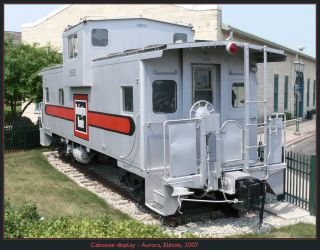 Caboose display by classictrains