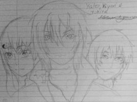 Hiyori, Yato and Yukine by epicbubble7
