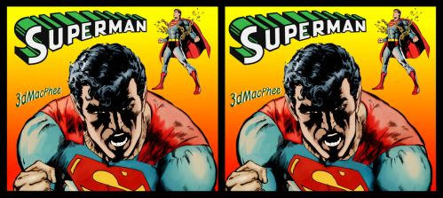3d Superman in your face by 3dfantasys