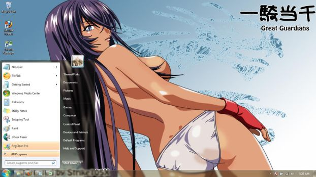 Anime-girls-w-2  Windows 7 theme by windowsthemes