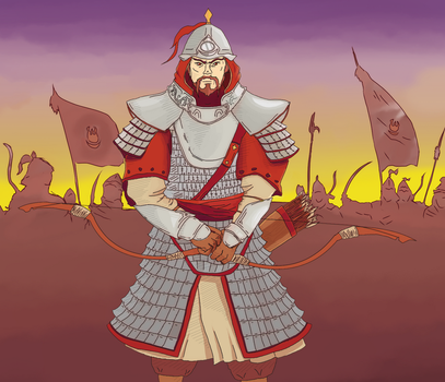 Steppe warrior by Kaaleps