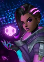 Sombra fan art by silverghostDK