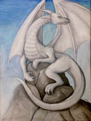 Dragon Painting by KTechnicolour