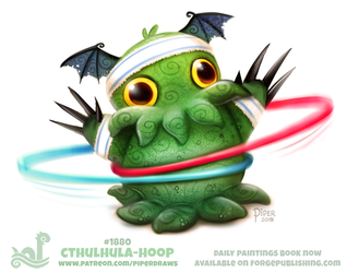 Daily Paint 1880# Cthulhula-hoop by Cryptid-Creations