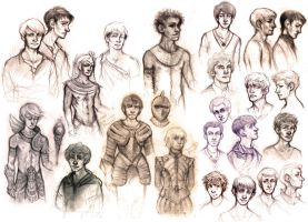 Sketch Dump - Of Boys and Men (2) by whimsycatcher