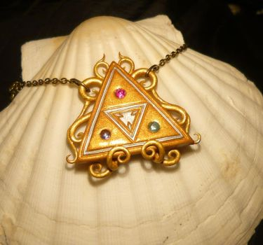 The Triforce - Necklace with real Gemstones by Ganjamira