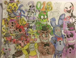 Happy New Year! 2018 (Sorta late) by WitheredFreddy1993