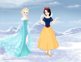 Snow White Vs Elsa by Yandere-ChanKawaii13