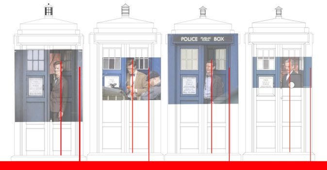 new TARDIS accurate line up 2005 to 2017 box's by Fusionfall550