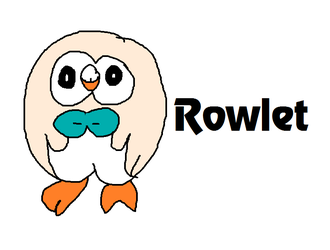 Rowlet from Pokemon Sun and Moon by MikeJEddyNSGamer89
