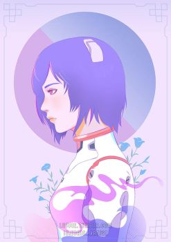 Rei Ayanami Illustration by luffie