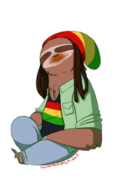 Reggae Sloth - Musical Sloths by IllustratedJai