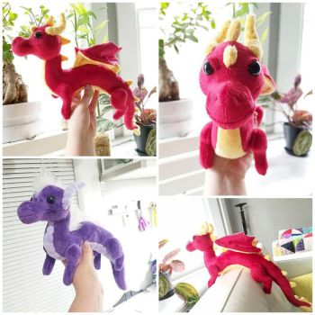 Red and Purple Shoulder Dragons by BeeZee-Art