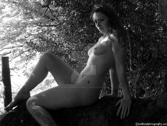 Nude in woods 6 by deadheadphotography